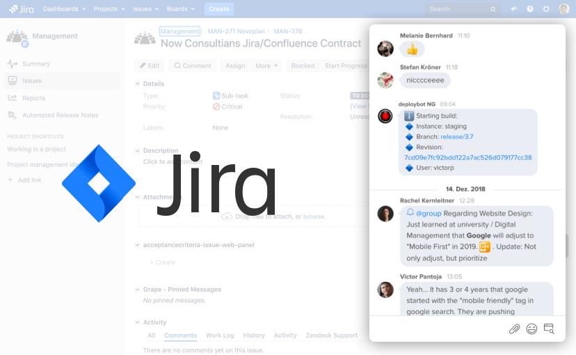 Grape-Integration für Jira - besser im passenden Kontext arbeiten